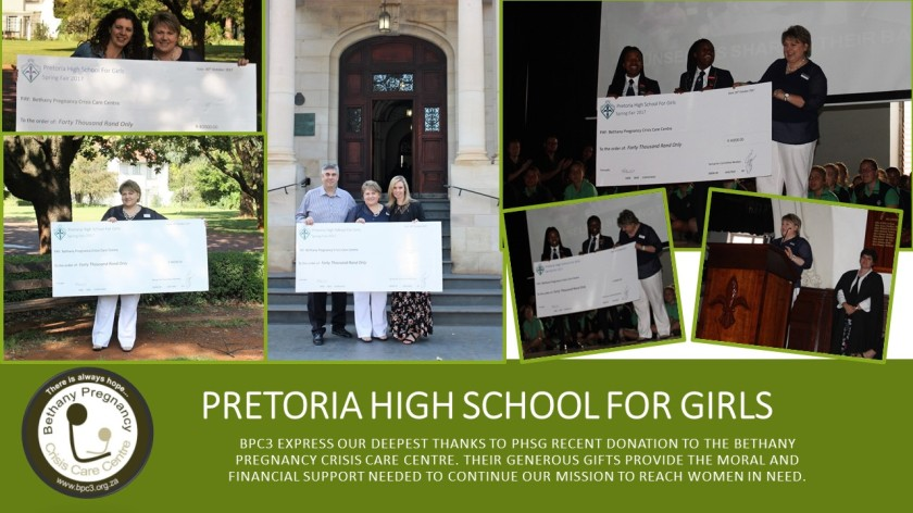 Pretoria girls High School Donation